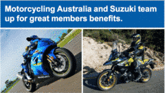 Motorcycling Australia and Suzuki team up for great members benefits