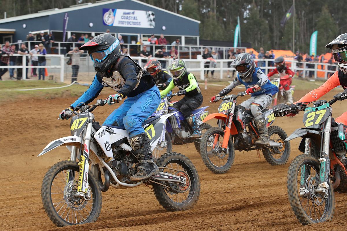 c2107285f9f Racing has kicked off properly here at day three of the KTM Australian  Junior Motocross Championship (AJMX) at Penguin, Tasmania.